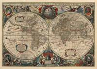 Vintage Map of The World (1641)
