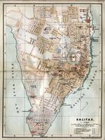 Vintage Map of Halifax Nova Scotia (1890)