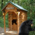 """outhouse welcomes the bears"" by bandtdigitaldesigns"