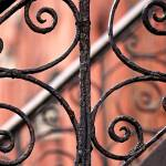 """Chelsea Wrought Iron Abstract"" by RonaBlack"