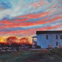 """""The Evening Rush"" Jewett-Bass House, Midlothian,"" by amydonahuefineart"