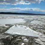 """""""Ice Flowing Down the Hudson River"""" by foxvox"""