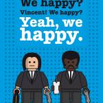 """My Pulp Fiction lego dialogue poster"" by Chungkong"