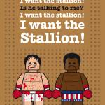 """My rocky lego dialogue poster"" by Chungkong"