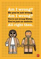 My The Big Lebowski lego dialogue poster
