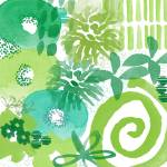 """""""Green Garden- Contemporary Abstract Watercolor Pai"""" by lindawoods"""