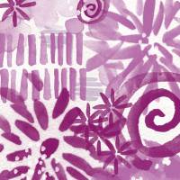 Purple Garden- Contemporary abstract flower painti Art Prints & Posters by Linda Woods