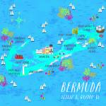 """Bermuda Map"" by joylaforme"