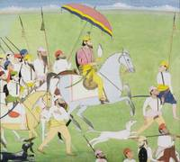 Rajah Dhian Singh (1796-1840) hunting with compani
