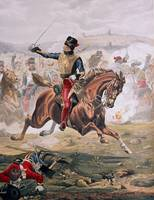 Lord Cardigan (1797-1868) leading the Charge of th