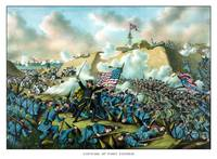 Digitally restored Civil War print depicting the U