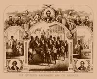 Digitally restored Civil War print of The Fifteent