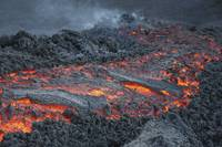 Lava flow on the flank of Pacaya volcano, Guatemal