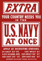 Vintage World War II poster is a plea for Navy rec