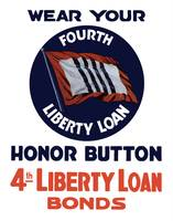 Vintage World War II poster of a 4th Liberty Loan