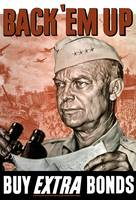 World War II poster of General Dwight Eisenhower h
