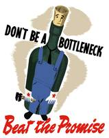 Vintage World War II poster of a bottle dressed in