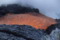 Lava flowing into sea, Kilauea volcano, Big Island