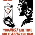 """World War II poster of the Roman god of war holdin"" by stocktrekimages"