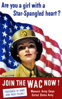 Vintage World War II poster of a member of The Wom