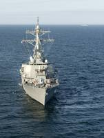 The guided-missile destroyer USS Laboon