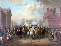 Digitally restored Revolutionary War painting of G