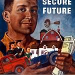 """World War II propaganda poster of a farmer holding"" by stocktrekimages"