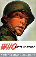Vintage World War II poster of a soldier wearing h