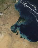 Resuspended sediment off the coast of Tunisia