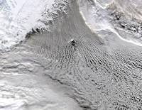Cloud vortices off Jan Mayen Island Greenland Sea