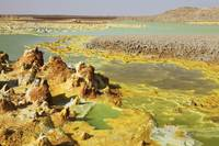 Potassium salt deposits, Dallol geothermal area, D