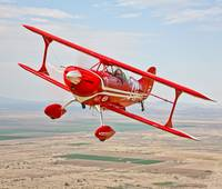 A Pitts Special S-2A aerobatic biplane in flight n