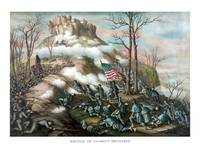Vintage American Civil War print of The Battle of