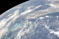 High oblique Earth view of the Florida peninsula a