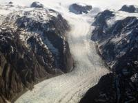 The Sondrestrom Glacier in Greenland