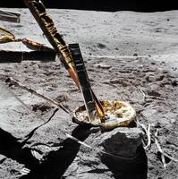 A closeup view of the Apollo 16 Cosmic Ray Detecto