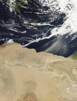 Dust storm over Egypt
