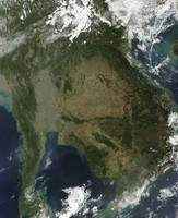 Satellite view of Indochina