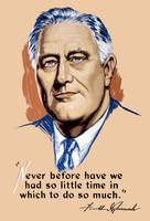 Vintage World War II artwork of President Franklin