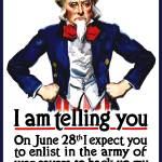 """World War I poster of Uncle Sam standing with his"" by stocktrekimages"