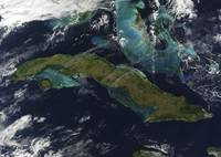 Satellite view of Cuba