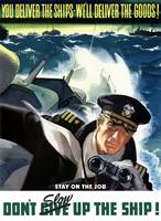 World War II poster of a Navy Commander with binoc