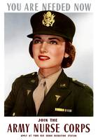 World War II poster of a smiling female officer of