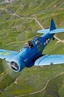 North American T-6 Texan in flight over Chino, Cal