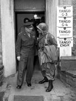 Vintage WWII photo of General Eisenhower and Ridgw