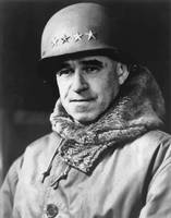Digitally restored vector portrait of Omar Bradley