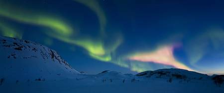 Aurora Borealis over Skittendalen Valley, Troms Co