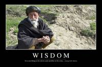 Wisdom: Inspirational Quote and Motivational Poste