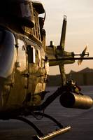 An OH58D Kiowa during sunset