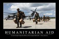 Humanitarian Aid: Inspirational Quote and Motivati